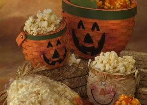 Happy Halloween Mini Popcorn Balls