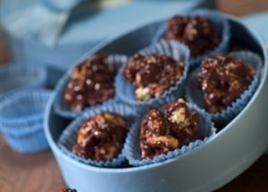 Popcorn and Peanut Truffles