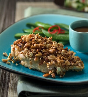Thai Peanut and Popcorn Crusted Chicken