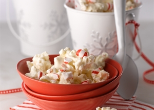 White Chocolate Peppermint Popcorn Bark