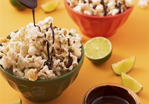 Lime and Chocolate Popcorn